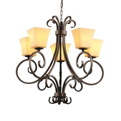 Justice Design CNDL-8570 Victoria 5-Uplight Chandelier
