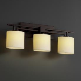 Justice Design CNDL-8703 CandleAria - Three Light Aero Bath Bar