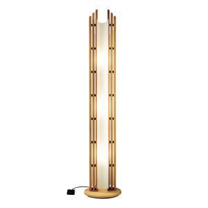 Domus - Three Light Beech Wood Floor Lamp