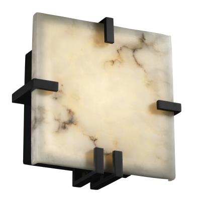 Justice Design FAL-5550 Clips Square Wall Sconce (ADA)