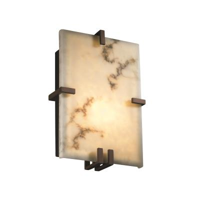 Justice Design FAL-5551 Clips Rectangle Wall Sconce (ADA)