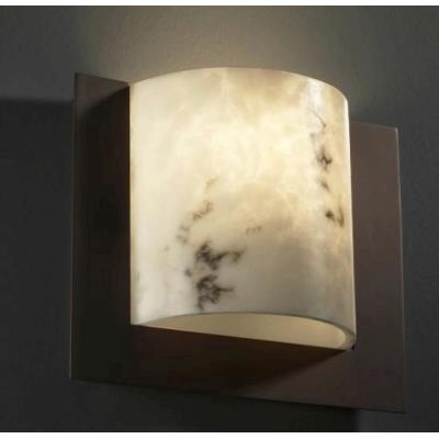 Justice Design FAL-5560 Framed Square 3-Sided Wall Sconce (ADA)
