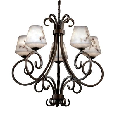 "Justice Design FAL-8570 LumenAria - 30"" Five Light Chandelier"