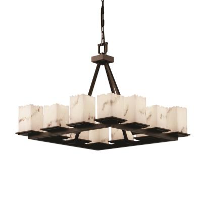 Justice Design FAL-8668 Montana - Twelve Light Short Ring Chandelier
