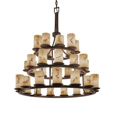 Justice Design FAL-8712 Dakota 36-Light 3-Tier Ring Chandelier