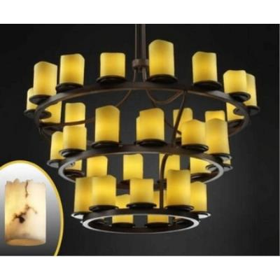 Justice Design FAL-8713 Dakota 36-Light 3-Tier Ring Chandelier (Inverted)