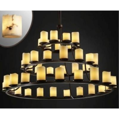 Justice Design FAL-8714 Dakota 45-Light 3-Tier Ring Chandelier