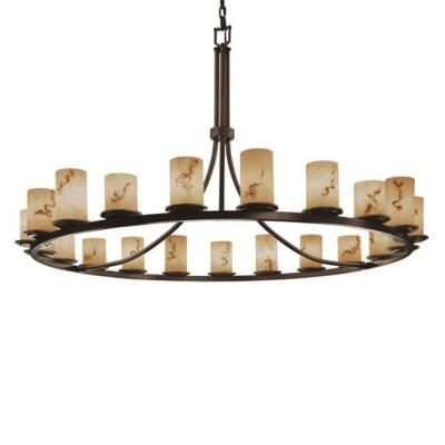 Justice Design FAL-8716 Dakota 21-Light 1-Tier Ring Chandelier