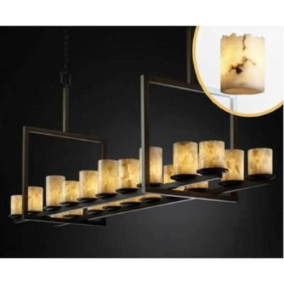 Justice Design FAL-8717 Dakota 20-Light Bridge Chandelier