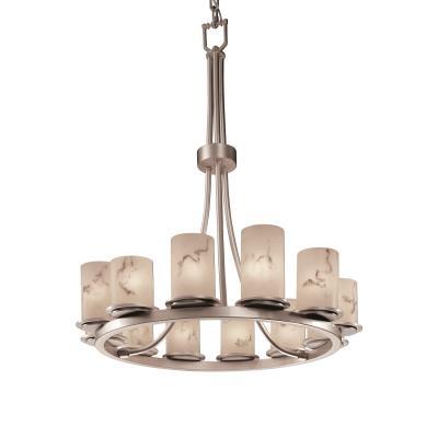 Justice Design FAL-8763 Dakota 12-Light Ring Chandelier (Tall)
