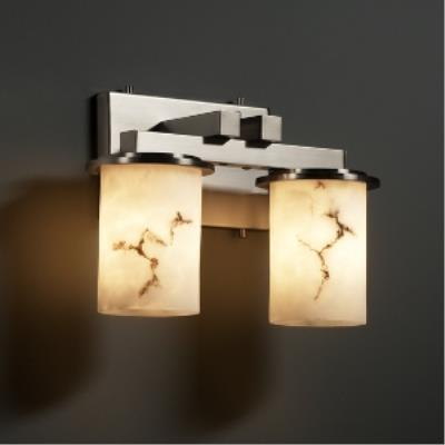 Justice Design FAL-8772 Dakota 2-Light Straight-Bar Wall Sconce