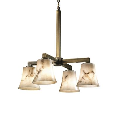 "Justice Design FAL-8920 LumenAria - 21"" Four Light Chandelier"