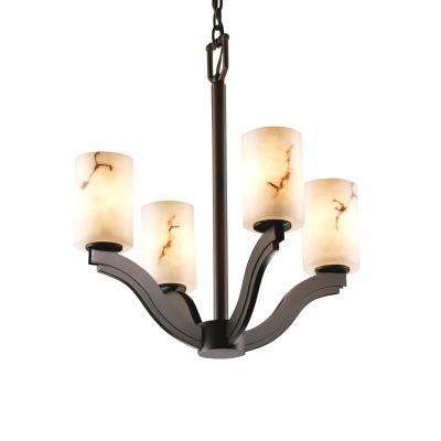 "Justice Design FAL-8970 LumenAria - 22"" Four Light Chandelier"