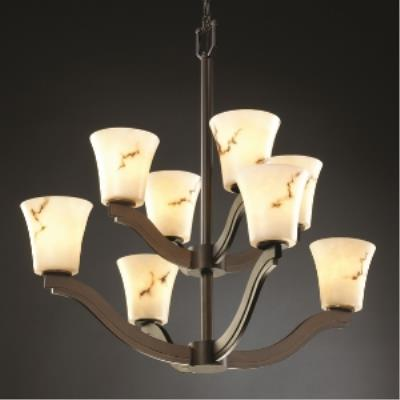 Justice Design FAL-8978 Bend Eight Light 2-Tier Chandelier