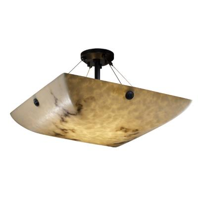 "Justice Design FAL-9652 24"" Semi-Flush Bowl"