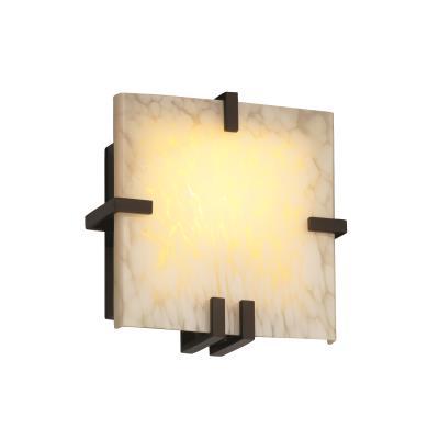 Justice Design FSN-5550 Clips Square Wall Sconce (ADA)