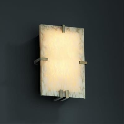 Justice Design FSN-5551 Clips Rectangle Wall Sconce (ADA)