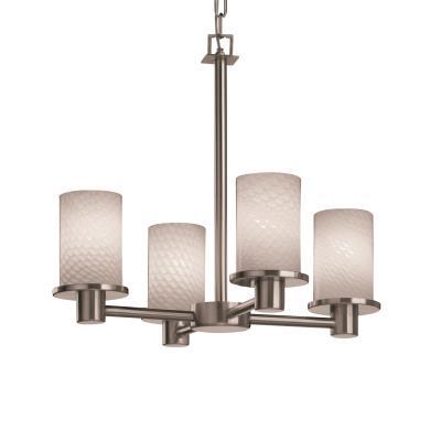 Justice Design FSN-8510 Rondo 4-Light Chandelier
