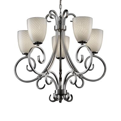 "Justice Design FSN-8570 Fusion - 30"" Five Light Chandelier"