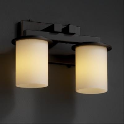 Justice Design FSN-8772 Dakota 2-Light Bath Bar