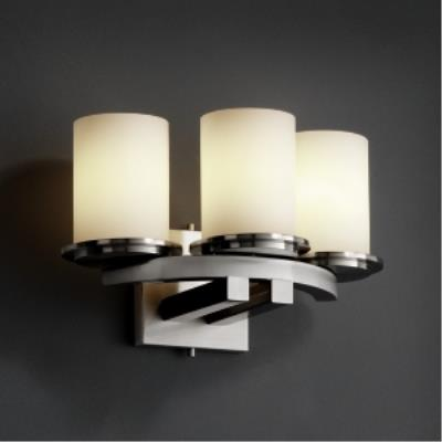 Justice Design FSN-8776 Dakota 3-Light Curved-Bar Wall Sconce