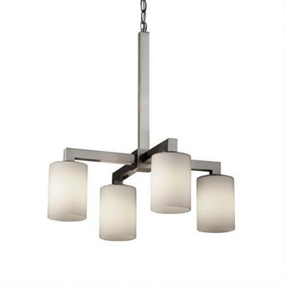 "Justice Design FSN-8920 Fusion - 21"" Four Light Chandelier"