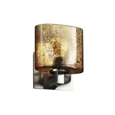 "Justice Design FSN-8931 Fusion - 7.25"" One Light Bracket Oval Wall Sconce"