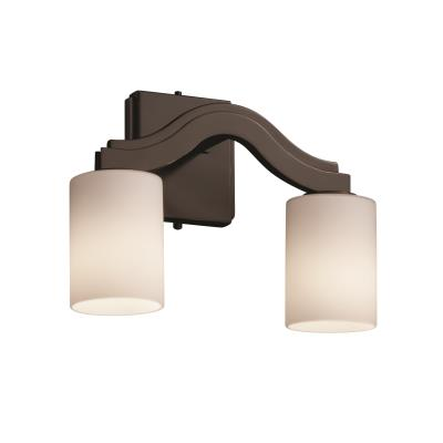 """Justice Design FSN-8975 Fusion - 15.5"""" Two Light Wall Sconce"""