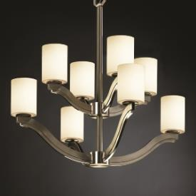 Justice Design FSN-8978 Bend Eight Light 2-Tier Chandelier