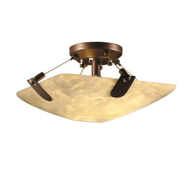 "Justice Design FSN-9610 14"" Semi-Flush Bowl w/ U-Clips"