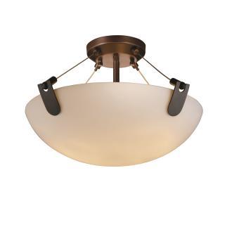 "Justice Design FSN-9611 18"" Semi-Flush Bowl w/ U-Clips"
