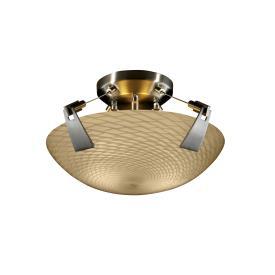 """Justice Design FSN-9630 14"""" Semi-Flush Bowl w/ Tapered Clips"""