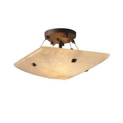 "Justice Design FSN-9650 14"" Semi-Flush Bowl w/ Finials"