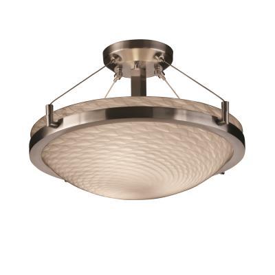 """Justice Design FSN-9681 18"""" Round Semi-Flush Bowl w/ Ring"""