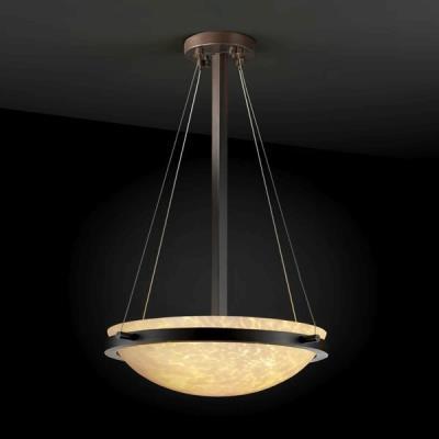 "Justice Design FSN-9691 18"" Round Pendant Bowl w/ Ring"