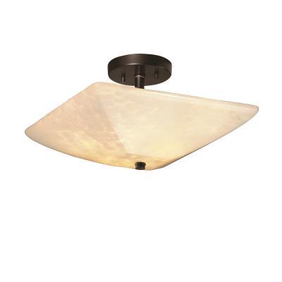 """Justice Design FSN-9695 14"""" Square Bowl Semi-Flush"""