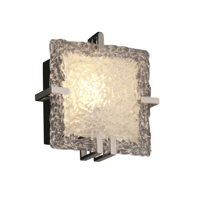 Justice Design GLA-5550 Veneto Luce - One Light Square ADA Wall Sconce