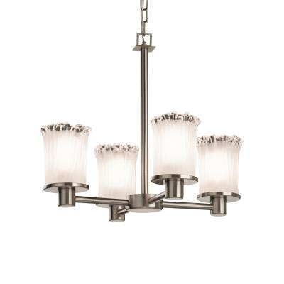 Justice Design GLA-8510 Rondo - Four Light Chandelier