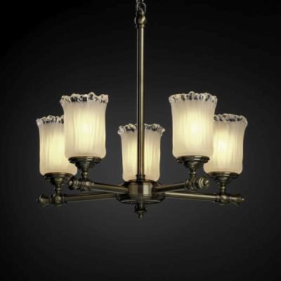 Justice Design GLA-8520 Tradition Five Light Chandelier