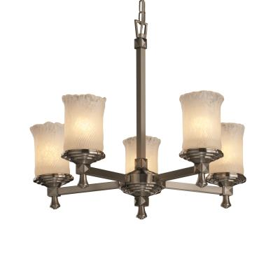 Justice Design GLA-8530 Deco - Five Light Chandelier