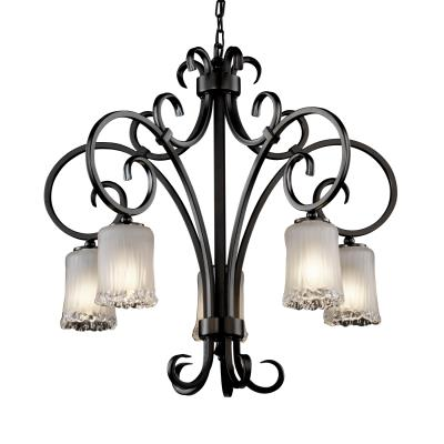 Justice Design GLA-8575 Victoria 5-Downlight Chandelier