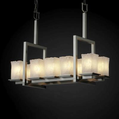 Justice Design GLA-8657 Montana - Ten Light Bridge Chandelier