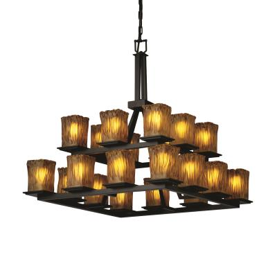 Justice Design GLA-8667 Montana - Twenty Light Two-Tier Ring Chandelier