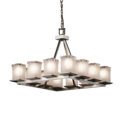 Justice Design GLA-8668 Montana - Twelve Light Short Ring Chandelier