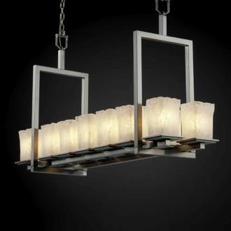 Justice Design GLA-8669 Montana - Fourteen Light Short Bridge Chandelier