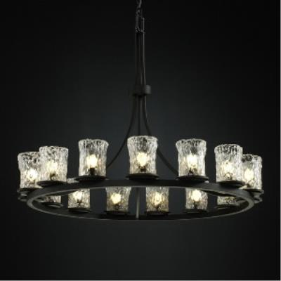 Justice Design GLA-8715 Dakota - Fifteen Light Ring Chandelier