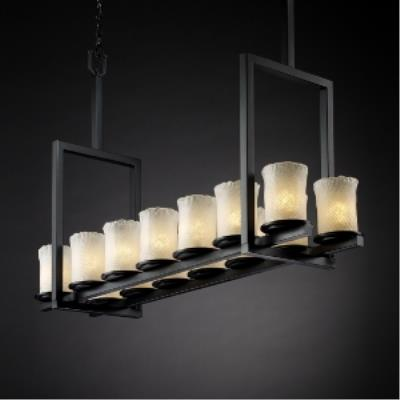Justice Design GLA-8764 Dakota - Fourteen Light Tall Bridge Chandelier