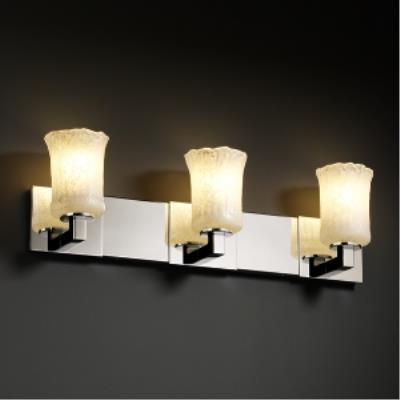 Justice Design GLA-8923 Modular Three Light Bath Bar