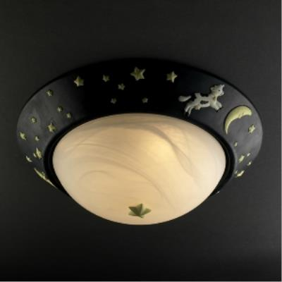Justice Design KID-6182 Kid's Room - Three Light Flush Mount