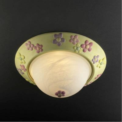 "Justice Design KID-6190-INCAN Flowers 14"" Flush-Mount"